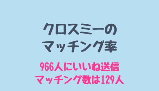 クロスミーのマッチング率は高い!961いいね送信で成立した数は?